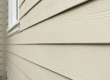 Beige siding closeup