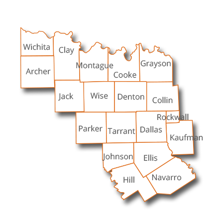 Dallas Fort Worth Counties Beldon